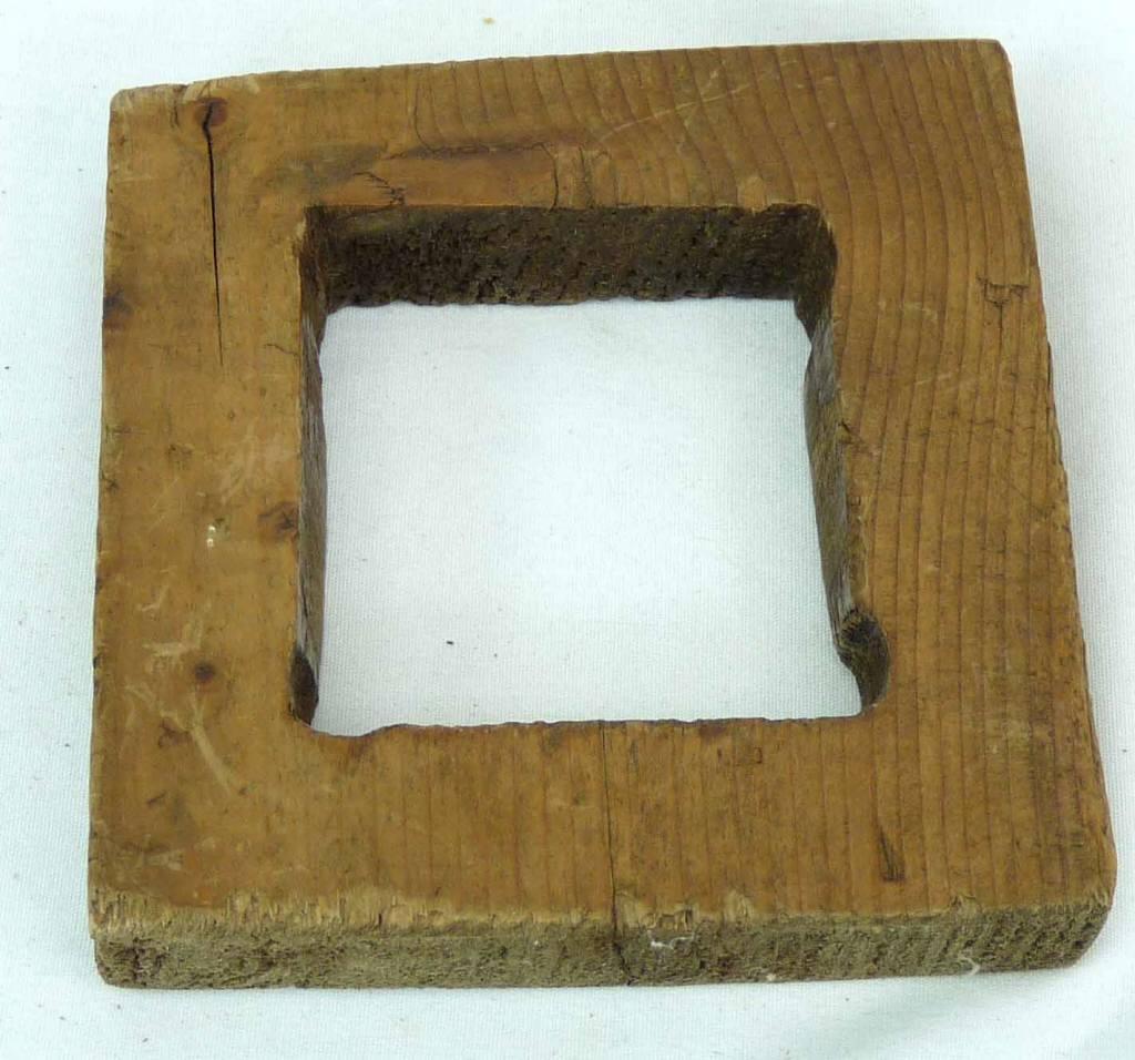 Antique primitive wood hand carved folk art maple sugar mold